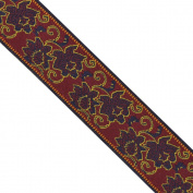 """5 yards 1-1/8"""" WIDE 29mm Floral Woven Jacquard Ribbon Trim Tape"""