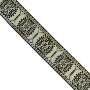"5 yards 1"" WIDE 25mm Classic Metallic Jacquard Ribbon Trim"