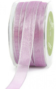 May Arts 1.6cm Wide Ribbon, Lavender Iridescent Metallic