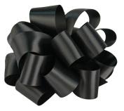 Offray Single Face Satin Craft Ribbon, 7.6cm by 10-Yard Spool, Black