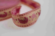 Neotrims Decorative French Ribbons Online by the Yard, Pastels Feather Trimming. Beautiful 2cm wide ribbon; Beautiful Paisley Mogul India Jacquard designs, Traditional Mogul Jacquard Inspired sari Indian ribbon border; Great For Crafts and Hobbies; 4 B ..
