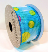 Jo-ann's Ribbon Inspirations,blue/pastel Polka Dots,3.8cm x 12ft.