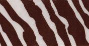 Venus Ribbon 3.8cm Zebra SF Satin Ribbon, White/Choco, 5-Yard