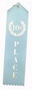 10th Place (Light Blue) Award Ribbons w/Card & String
