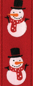 Entertaining with Caspari Snowman Red Ribbon, 8-Yard