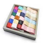 Oparty Solid Satin Ribbon 48 Spools (2.5cm x 1 Yard Each), Party Favours