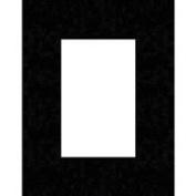 Savage ProMatte, Single 28cm x 36cm Photo Mat with 20cm x 25cm Opening, Bevel Cut, Acid Free, Matte Black with White Core