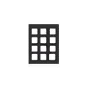 "Adorama Pre-Vu Slide Mat, 8.5""x11"" Presentation Board with Twelve 35mm Pockets."