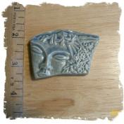 Stone Blue*~modern Face~* 1 Pendant - Mosaic Tiles Hm Pottery