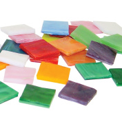 Jennifer's Mosaics Variety Opalescent Stained Glass Chips, Assorted Colours