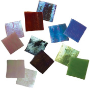 Jennifer's Mosaics 150ml Variety Iridescent Stained Glass Chips, Assorted Colours