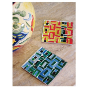 Jennifer's Mosaics Mosaic Metal Coaster Kit, Makes 2 Coasters