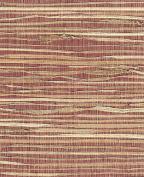 Grass Cloth/Paper- Natural Grass on Burgundy 46cm x 60cm Sheet