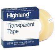 """Transparent Tape, 3/"""" x 330cm """" Core, Clear"""