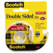 665 Double-Sided Office Tape w/Hand Dispenser, 1.3cm x 450