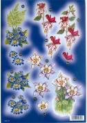 Ecstasy Crafts Craft Uk - Bright Blue Daisies & Bleeding Hearts In Gold