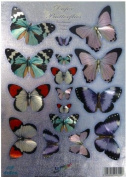 Ecstasy Crafts Dufex Metallic Butterfly Embellishments Precut - Fluttering Pastels