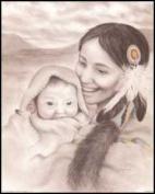 Indian Mother & Child Paper Tole 3D Kit 8x10