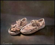 Old Sneaker shoes Paper Tole 3D Craft Kit 8x10