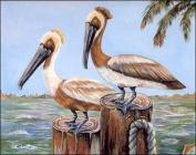 Pelicans at Beach Paper Tole 3D Kit 8x10