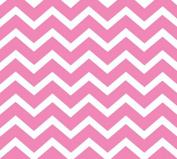 Pink Chevron Print (60cm X 100') Clear Cellophane Roll