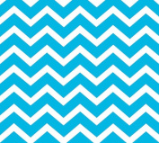 Blue Chevron Print (60cm X 100') Clear Cellophane Roll