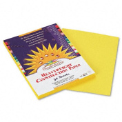 SunWorks : SunWorks Construction Paper, Heavyweight, 9 x 12, Yellow, 50 Sheets -:- Sold as 1 PK