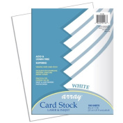 Pacon Array White Card Stock - Letter - 100 Sheets Per Pack