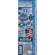 Signature Series 2012 Cardstock Combo Stickers 11cm x 30cm -Air Force