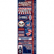 Signature Series 2012 Cardstock Combo Stickers 11cm x 30cm -American Hero