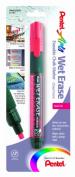 Pentel Arts Wet Erase Chalk Marker, Chisel Tip, Red Ink, 1 Pack