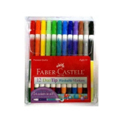 Faber - Castell Washable 12 Duo Tip Markers Arts & Crafts