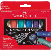 Faber-Castell 6ct Metallic Gel Sticks