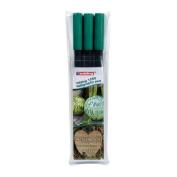 Edding CALLIGRAPHY PEN SET 3 PENS 2mm 3.5mm 5mm - Bottle Green