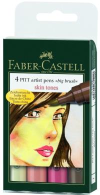 Pitt Artist Big Brush 4 Skin Tone Colour Set