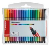 Stabilo Mini Pen 68 18-colour Wallet