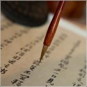 Professional Small Script Chinese Calligraphy Kanji Sumi Drawing Brush - Wolf Hair .5x1.7cm