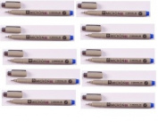 10 Open Stock Sakura Pigma Micron 03 PEN 0.35.mm - Blue Ink