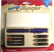 Sheaffer Viewpoint Calligraphy Pen Kit Set with 3 Nibs, Fine, Medium and Broad, Instructions, Ink Cartridges in 4 Colours and 6 Cards with Envelopes