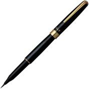 Platinum CF-5000 Natural Weasel Hair Brush Pen - Black Marble Print Body
