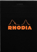 Rhodia Classic French Paper Pads graph 8.6cm . x 12cm . black