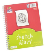 70 Page 20cm - 1.3cm X 28cm Sustainable Forestry Initiative Spiral Bound Sketch Book
