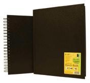 Black Hardbound Sketch Book 5.5 X 8