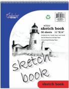 iScholar Sketch Book, Top Wirebound, 30 Sheets, 28cm x 36cm , White