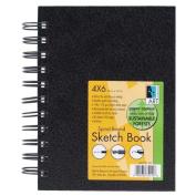 Black Wirebound Sketch Book 4x6