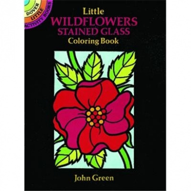 Dover Stained Glass Colour Book Wildflowers