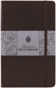 Pentalic Illustrators Sketchbook, 20cm by 13cm , Mocha Brown