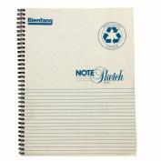 Bienfang Notesketch Paper Pad, Vertical Lined, 64 Sheets, 22cm by 28cm