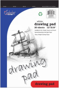 iScholar Drawing Tablet, 20 Sheets, 30cm x 46cm , White