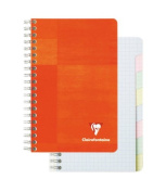 Clairefontaine Wire Book 4.25X6.75 Graph/Tabs